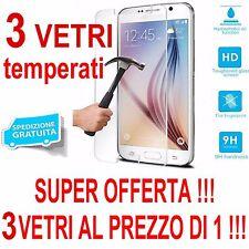 3 vetri PROTEZIONE SCHERMO VETRO TEMPRATO APPLE iPhone 5 5G 5S 5C PROTETTORE 9H