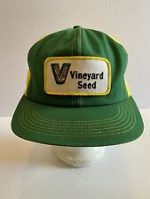 Vintage Vinyard Seed K products patch snap back trucker Farming Hat-RARE-USA
