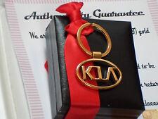 24K 24ct gold plated metal chrome KIA metal  keyring  3d car key chain ring fob