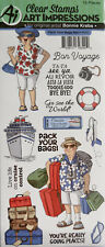 AI ART IMPRESSIONS PACK YOUR BAGS Bonnie Krebs Travel Clear Stamps Cardmaking