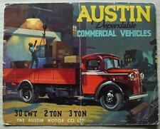 AUSTIN COMMERCIALS Sales Brochure 1939 #1753B  30 CWT  2 Ton  3 TON