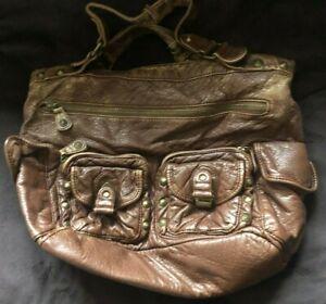 Ladies Marks & Spencer Tote Bag. Brown. Distressed Look Design. M&S. FREE P+P