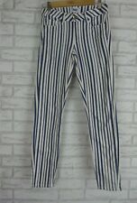 PAIGE JEANS Sz 27 Blue and White Stripe  Verdugo Ultra Skinny