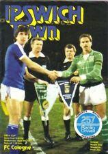 UEFA CUP / Euroleague Programm IPSWICH TOWN - 1.FC KÖLN Halbfinale 1980/81
