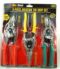 Heavy Duty 3pc Aviation Tin Snips Set Sheet Metal Cutters Shears Tinsnips Shear