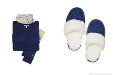 Victoria's Secret Fireside Long Jane Pajama PJ Navy Multi Patchwork S Slipper M