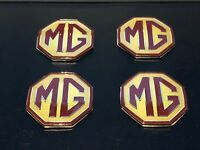 MGF MG TF  Alloy Wheel Hub Cap Centre Badges x 4 45mm Badges