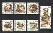 Gibraltar 2001 Snakes/Reptiles/Animals/Nature/Wildlife 7v set (n19872)