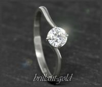 Diamant Solitär 585 Gold Damen Ring mit 0,58ct, River, Si1-2; Verlobungsring NEU