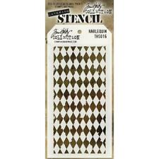 Tim Holtz Stampers Anonymous Harlequin Stencil Ths016