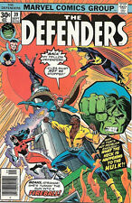 The Defenders Comic Book #39, Marvel Comics 1976 VERY GOOD+