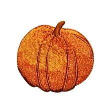 ID 0799B Perfect Pumpkin Patch Halloween Harvest Embroidered Iron On Applique