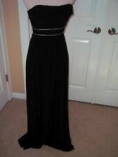 BCBGMAXAZRIA Women's Knit Dress  Long Strapless Black/ Silver  Sz XXS