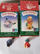 1999 Christmas at Pooh's House #2 Winnie the Pooh Merry Miniatures and Eeyore