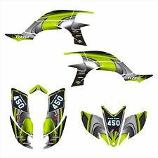 Yamaha YFZ 450 graphics kit 2003 2004 2005 2006 2007 2008 #3737- Manta Green