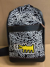 NWT Coach Ltd Edition Keith Haring Charles Sling Nylon/ Leather Backpack F11705