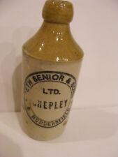 GINGER BEER Stoneware BOTTLE SETH SENIOR & Sons Shepley Huddersfeld England