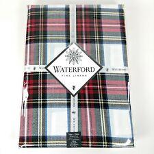 WATERFORD STEWART PLAID TARTAN OBLONG TABLECLOTH & NAPKINS - 70x104 - 9PC SET