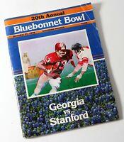 1978 Bluebonnet Bowl 20th Astrodome Houston Georgia vs Stanford Football Program