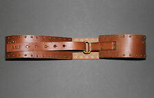 """NWT! ABERCROMBIE Womens Leather Studded Belt 2.25"""" Wide M/L $68 Hollister"""