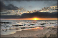 "Caribbean Ocean Mexico Canvas Pictures 16""X20"" Sunset Beach Sea Wall Art Prints"
