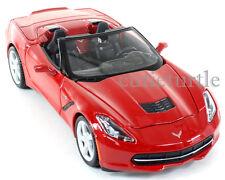 Maisto 34501 2014 Chevrolet Corvette C7 Stingray Convertible 1:24 Diecast Red