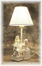 Grosse TISCHLAMPE   3 ENGEL auf BÜCHER   Deko Licht Putte Angel Geschenk Leuchte