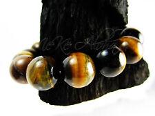 12mm Genuine Tiger Eye Beads 15 Pieces Warm Brown Tones Free Stripe Mottled NICE