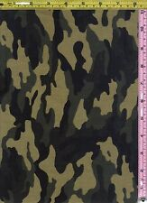Military Camouflage Hunt David Textile Cotton Fabric 1/4 yd off bolt 22.5 cm