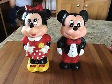 1986 Tootsie Toy Mickey & Minnie Mouse