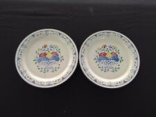 "Lenox POPPIES ON BLUE Rooster Accent Luncheon Plates 9.25"" Set of 2"