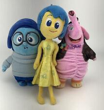 "Disney Pixar Inside Out Lot of 3 Plush Toys Figures Joy Sadness Bing Bong 8-9"""