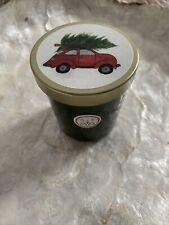 SAND + FOG CHRISTMAS BALSAM & CEDAR GREEN GLASS CANDLE WITH LID 4oz