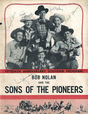 Sons of the Pioneers, 15th Anniversary Program Autographed. Guaranteed Original!