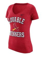 New NWT S/S St. Louis Cardinals Nike Shirt Womens Size M Medium Lovable Winners