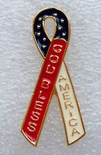 God Bless America pin, gold plate, USA made