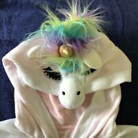 "NWT Adult ""Xhilaration"" Unicorn PJ's Sleepwear Costume/Pajamas Rainbow Hair XS/S"