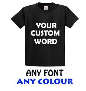 Custom Design Word IRON ON T SHIRT TRANSFER FABRIC VINYL DIY PERSONALISED