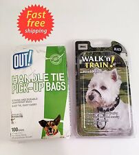 Walk n Train® Head Halter, Black, Small and OUT! Handle Tie Dog Waste Bags 58ct