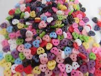 Mini Flower Shaped Buttons 6mm Asst Colours and Pack sizes  for Dolls Clothes