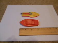 2 Toy Plastic Boats - made in Hong Kong
