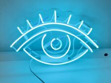 "New Eye Neon Light Sign 14"" Lamp Beer Pub Acrylic Real Glass Gift"