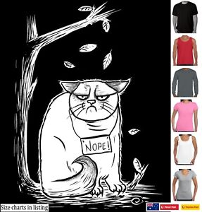 Funny T-Shirts cat t shirt Nope Mothers Day Womens sizes Mens tee's Kitty