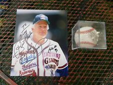 SIGNED PHOTO BY GAYLORD PERRY AND SIGNED BASEBALL BY HOF 1991 GAYLORD PERRY