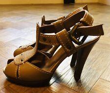 Russell & Bromley Zapatos De Tacón Cuero Tostado-Talla 37.5/UK 4.5