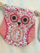 Buttoned Owl Bunting. Any Name. Only £1.75 Per Letter 🦉