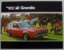 AMERICAN MOTORS AMC GREMLIN USA Car Sales Brochure c1974 #AMX 7401