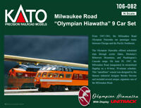 "KATO 106082 N MILWAUKEE ROAD ""Olympian Hiawatha"" 9 Car Set w/Unitrack 106-082"