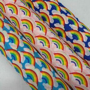 NHS Rainbow Fabric LGBT CRAFTS Kids PolyCotton Dress Bunting Doll House Fabric