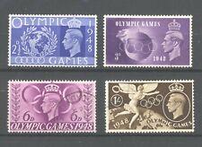 GB KGVI 1948 Olympic Games, full set VFU, SG 495-498